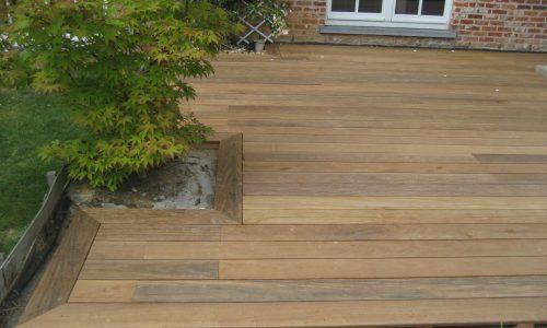 Terrasse & soutien en bois